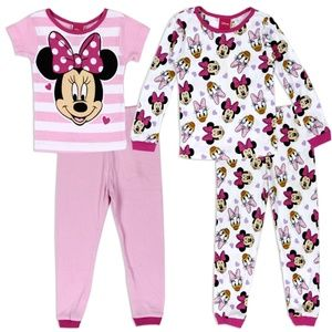 NEW! Minnie Mouse Toddler Girls 2-Pack Pajama Set